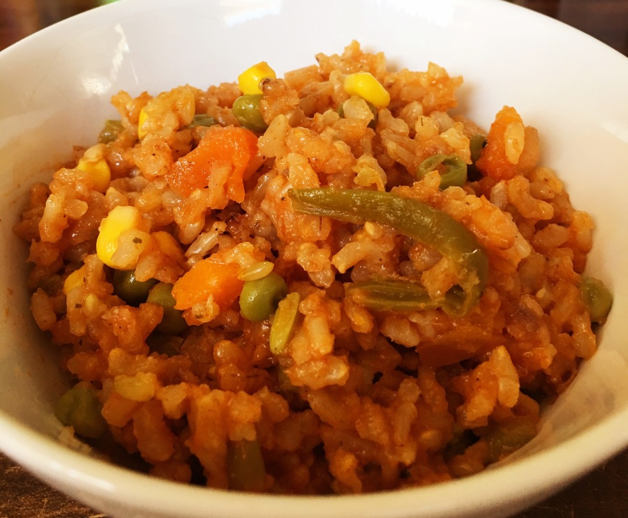 Spanish Brown Rice w/Vegi's